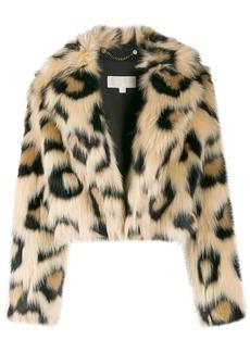MICHAEL Michael Kors leopard faux-fur jacket