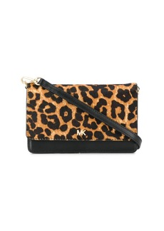 MICHAEL Michael Kors leopard print convertible crossbody bag