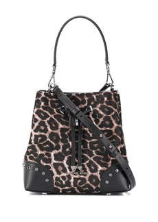 MICHAEL Michael Kors leopard print drawstring shoulder bag