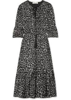 MICHAEL Michael Kors Leopard-print Georgette Midi Dress