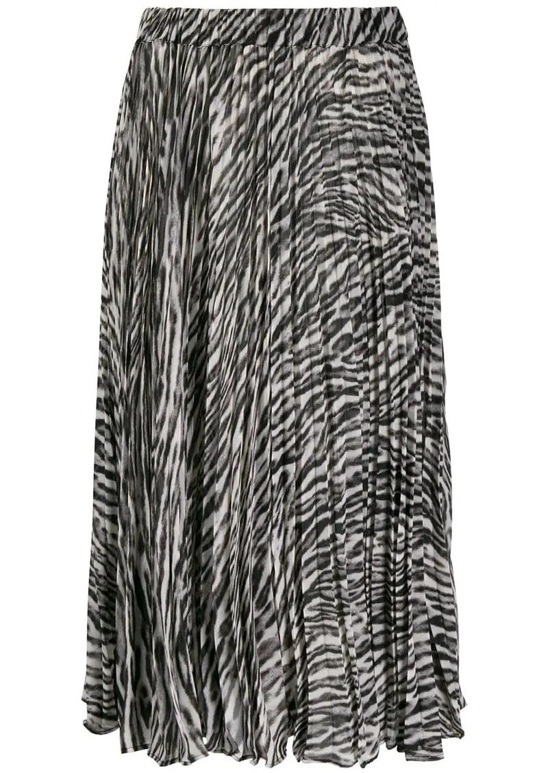 MICHAEL Michael Kors leopard print pleated skirt