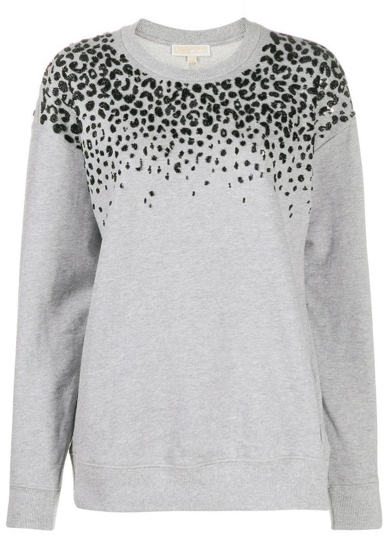 MICHAEL Michael Kors leopard print sweatshirt