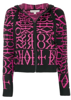 MICHAEL Michael Kors letter print zip jacket