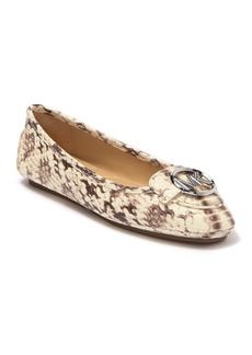 MICHAEL Michael Kors Lillie Moc Toe Snake Embossed Leather Flat