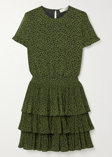 MICHAEL Michael Kors Lilly Ruffled Tiered Floral-print Crepe Mini Dress