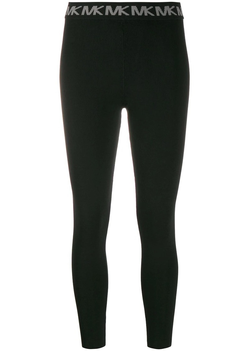 MICHAEL Michael Kors logo embroidered leggingse