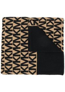 MICHAEL Michael Kors logo embroidered scarf