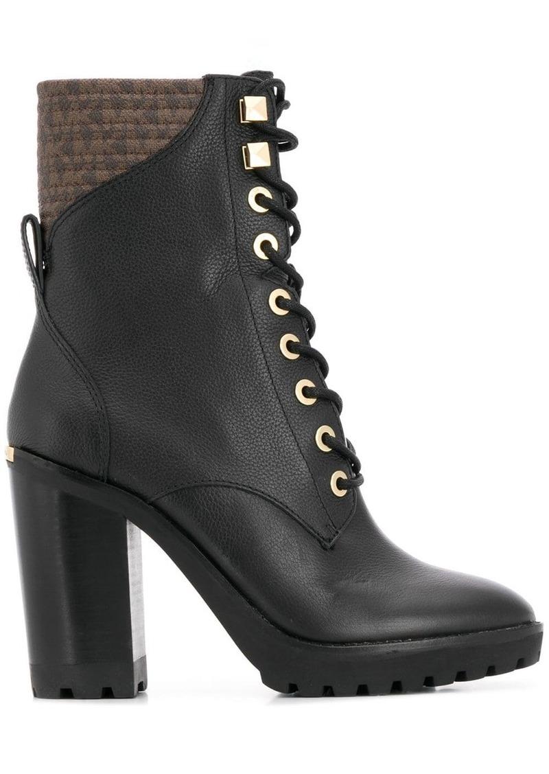 MICHAEL Michael Kors logo lined boots