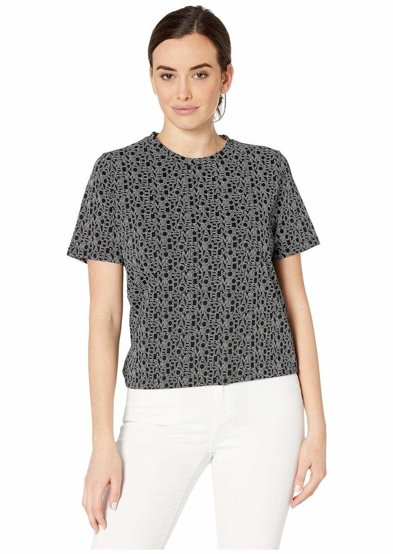 MICHAEL Michael Kors Logo Outline Short Sleeve T-Shirt