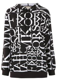 MICHAEL Michael Kors Newsprint logo-print hoodie