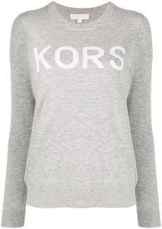 MICHAEL Michael Kors logo printed crew neck jumper