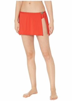 MICHAEL Michael Kors Logo Solids Belted Skirt Bottoms