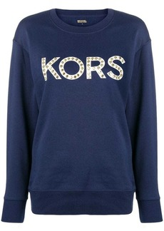 MICHAEL Michael Kors logo studded sweatshirt