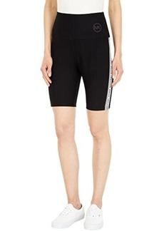 MICHAEL Michael Kors Logo Tape Biker Shorts