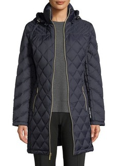 MICHAEL Michael Kors Long Packable Quilted Puffer Jacket