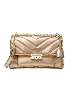 MICHAEL Michael Kors Medium Cece Quilted Metallic Leather Shoulder Bag