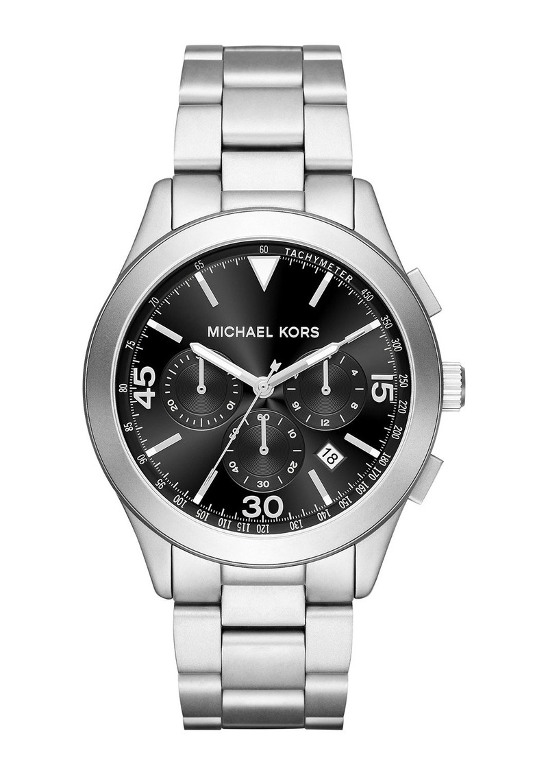MICHAEL Michael Kors Men's 43mm Gareth Watch w/ Bracelet Strap  Silver/Black