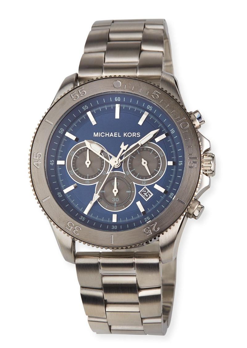 MICHAEL Michael Kors Men's 45mm Theroux Bracelet Watch  Blue/Silver