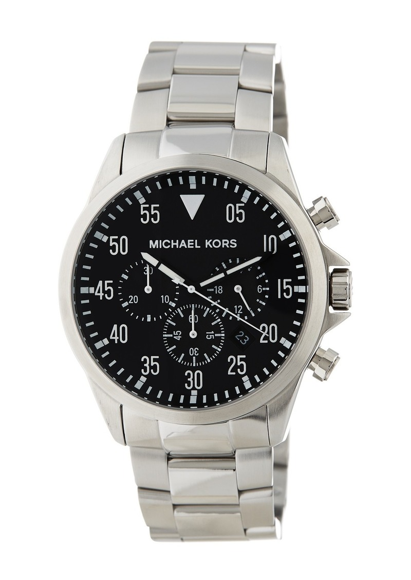 MICHAEL Michael Kors Men's Gage Bracelet Watch, 45mm