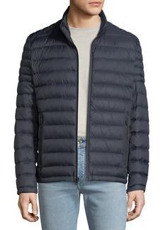 MICHAEL Michael Kors Men's Quilted Down Fill Zip Jacket