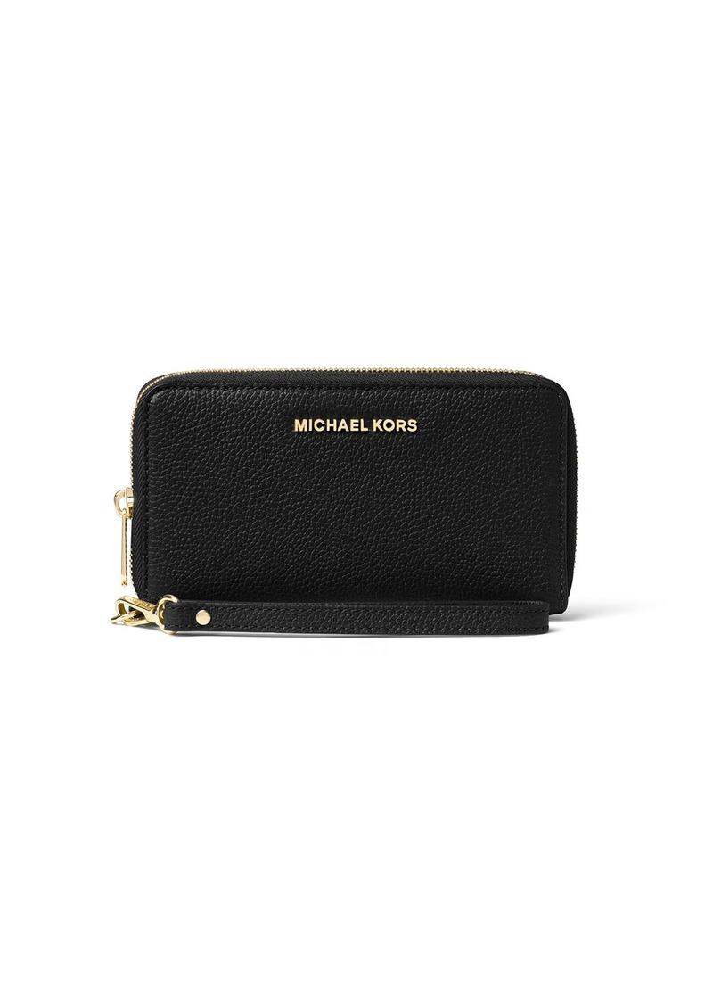 d9a428dc699d MICHAEL Michael Kors Mercer Large Flat Multifunction Leather Wristlet Phone  Wallet
