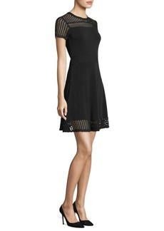 MICHAEL Michael Kors Mesh Fit-&-Flare Dress