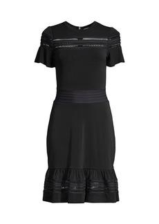 MICHAEL Michael Kors Mesh Mix Ruffle Dress