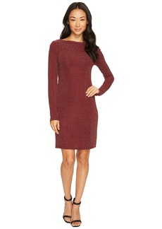 MICHAEL Michael Kors Metal Dot Long Sleeve Boat Neck Dress