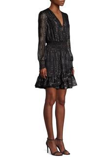 MICHAEL Michael Kors Metallic Blouson Flare Dress