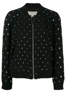 MICHAEL Michael Kors metallic embellished bomber jacket
