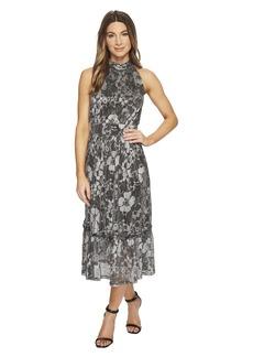 MICHAEL Michael Kors Metallic Knit Tier Midi Dress
