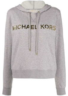 MICHAEL Michael Kors metallic logo embellished hoodie