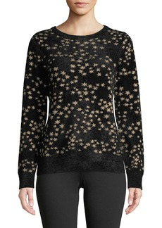 MICHAEL Michael Kors Metallic Star Detailed Jacquard Sweater