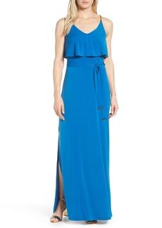 MICHAEL Michael Kors Michael Kors Chain Strap Flutter Maxi Dress
