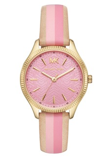 MICHAEL Michael Kors Michael Kors Lexington Leather Strap Watch, 36mm