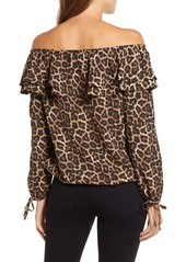 MICHAEL Michael Kors Michael Kors Ruffle Off the Shoulder Peasant Top