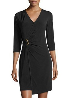 MICHAEL Michael Kors 3/4-Sleeve Faux-Wrap Dress
