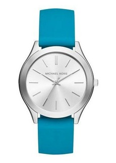 MICHAEL Michael Kors 42mm Slim Runway Watch w/ Silicone Strap