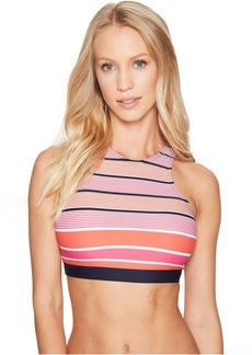 Abby Stripe High Neck Bikini Top