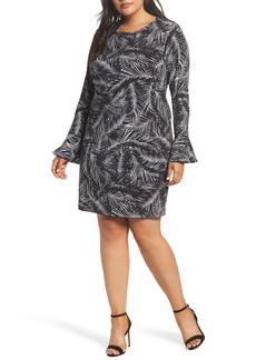 MICHAEL Michael Kors Abstract Palm Dress (Plus Size)