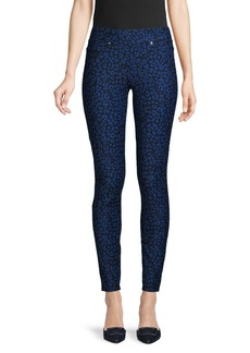 MICHAEL Michael Kors Abstract-Print Cotton-Blend Pocket Leggings