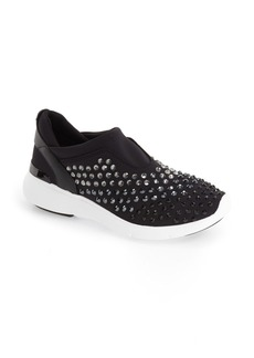 MICHAEL Michael Kors 'Ace' Crystal Encrusted Trainer (Women)