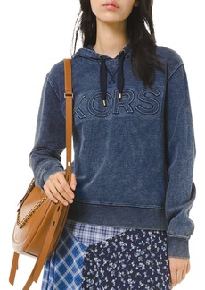 MICHAEL Michael Kors Acid-Wash Cotton Hoodie