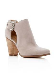 MICHAEL Michael Kors Adams Buckled High Heel Booties