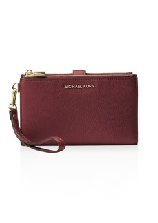 MICHAEL Michael Kors Adele Double Zip Leather iPhone 7 Plus/8 Plus Wristlet