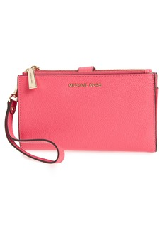 MICHAEL Michael Kors Adele Leather Wristlet