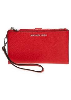 MICHAEL Michael Kors Adele Leather Wristlet
