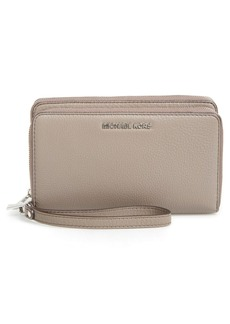 MICHAEL Michael Kors 'Adele' Leather Wristlet