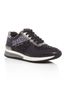 MICHAEL Michael Kors Allie Glitter Lace Up Sneakers