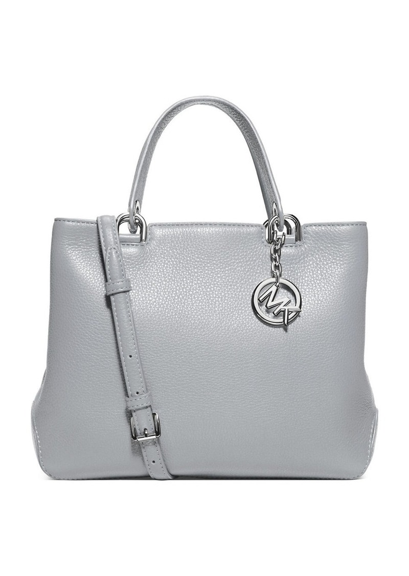 MICHAEL MICHAEL KORS Anabelle Pebbled Leather Satchel